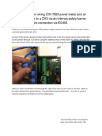 Documentation on How to Wire an Itron Corus Meter