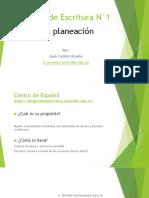 Taller de planeación textual (Ensayo Argumentativo)