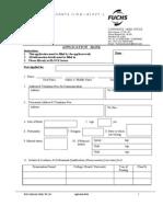 Application Form-Fuchsindia Lubricants