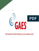 Presentacion de GAES y Detalles Del Convenio
