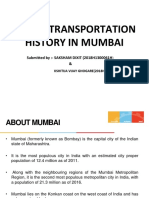 public transportation history in mumbai and its impact
