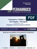 Linguagem e Temas Da Poesia Romântica.