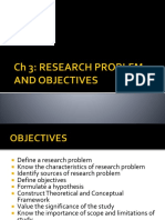 Ch 3. Research Problem and Objectives