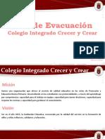 Plan de Evacuacion, Colegio Integrado Crecer y Crear
