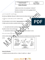 Correction du devoir de Contrôle N°3 - Sciences physiques la vitesse moyenne, la solubilité, solution titrée - 1ère AS  (2010-2011) Mr Ben Abdeljelil Sami