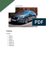 Marketing Mix de Mazda 6 Grand Touring 2019.docx