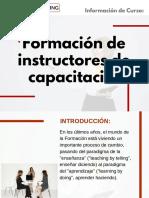 Curso Formación de Instructores de Capacitación