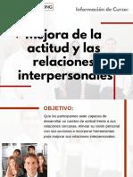 Curso Mejora de la Actitud y las Relaciones Interpersonales