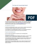 Conoce Los Tipos de Cosmetología Dental