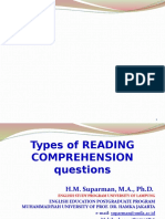 types of reading comprehension questions