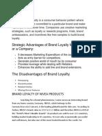 Brand Loyalty of Nivea.docx