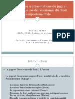 Les Nouvelles Représentations Du Juge en Économie Bruxelles 8 Octobre