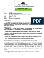 Programa Comportamiento Ambiental CCY351 Abril-Jul 2018