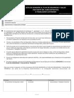 Adhesion Plan Seguridad Subcontratista Autonomo