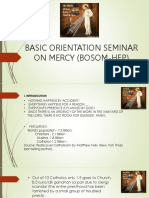 Basic Orientation Seminar on Mercy (Bosom-hep)
