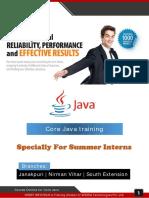 6 Weeks Summer Training Core Java