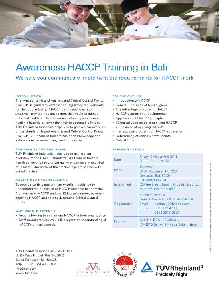Nama Staff | Hazard Analysis And Critical Control Points | Bali