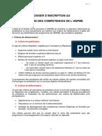 Anpme 2009 Dossier d Inscription