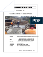 Valorizacion n 02 Puente 01 Al 30 Noviembre