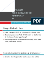 teori kepribadian evolutioner David buss.ppt