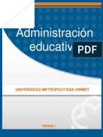 Administracion Educativa Unidad I