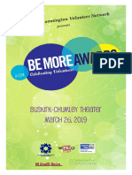 Be More Awards 2019 Commemorative Program