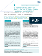 Proposal and test-retest reliability of a scale for cervical, thoracic and lumbar spine pain in Brazilian young people
