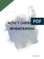 Actos y Contratos Administrativos