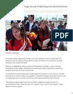 25/Marzo/2019 Sylvana Beltrones entrega obra de unidad deportiva Bicentenario de Nogales