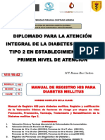 TEMA N°42  VIII-16-42 MANUAL REGISTRO HIS DIABETES OPS