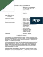 Alston v. Brookline Civil Service Commission Decision