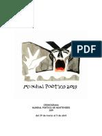 Cronograma Semanal Mundial Poetico 2019