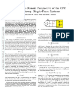 (2) a Novel Time-Domain Perspective of the CPC Power Theory Single-Phase Systems