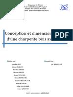 11. Conception Et Dimensionnement d'Une Charpente BOIS