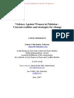 Violence Against Women in Pakistan CAST