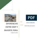 DIFERENCIAS ENTRE INVIERTE PERU Y SNIP.docx