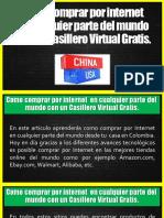 Como Comprar Por Internet en Cualquier Parte Del Mundo Con Un Casillero Virtual Gratis.