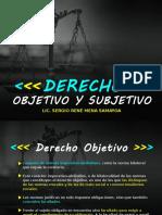 Derecho Objetivo y Subjetivo