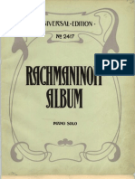 Rachmaninoff Morceaux de Fantasie Op3