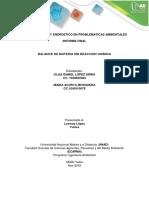 Balance Masico y Energetico Informe Final de Practica