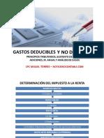 GASTOS DEDUCIBLES Y NO DEDUCIBLES