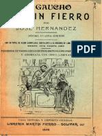 Consejos de Martín Fierro a Sus Hijos - 1872