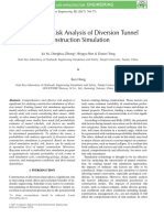 Probabilistic Risk Analysis of Diversion Tunnel Construction Simulation