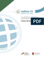 Debate Los Derechos Culturales en la Gramática del Desarrollo Patrice Meyer