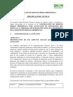 Bases Técnicas Valoraciones médicas PIE 2019