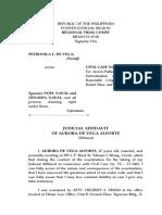 DE VEGA JUDICIAL AFFIDAVIT AURORA DE VEGA) 2 ATTY.doc