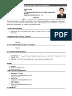 Dilmer Pastor Calderon-curriculum Vitae