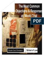 Objections and Responses Pp
