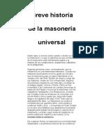 Breve Historia de La Masonería Universal