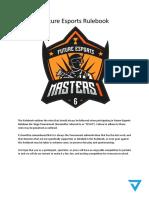 Future Esports Masters Rulebook